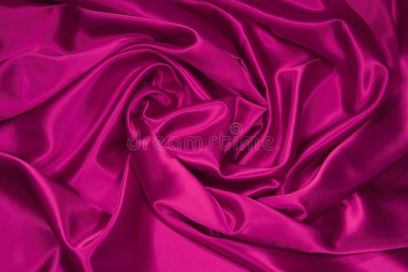 Tela rosada 1 del satén/de seda fotografía de archivo