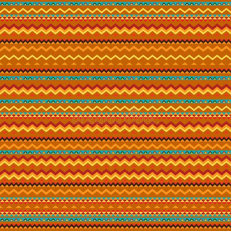 Tela sem emenda geométrica do sumário étnico do ornamento ilustração do vetor