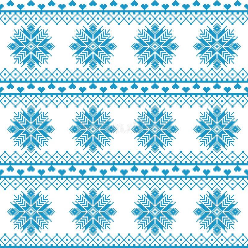 Tela sem emenda A ocasião Feliz Natal e ano novo feliz pixels ilustração stock