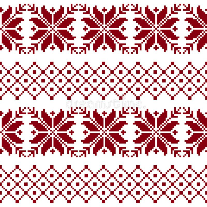 Tela sem emenda A ocasião Feliz Natal e ano novo feliz pixels ilustração royalty free