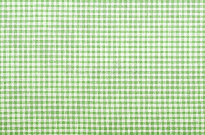 Tela verde Checkered fotografia de stock