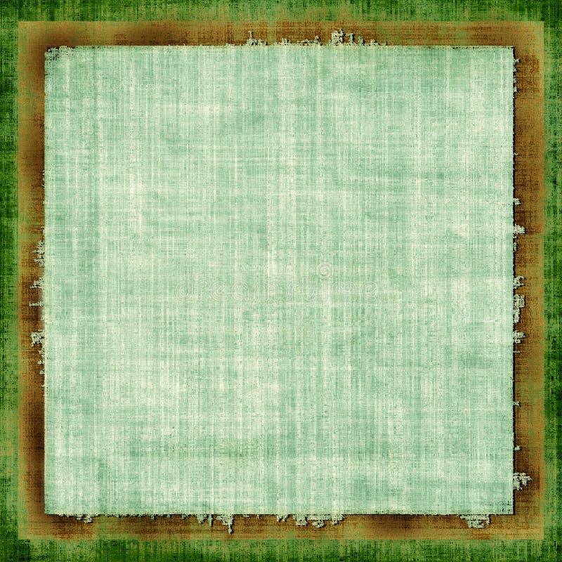 Tela verde de Grunge stock de ilustración