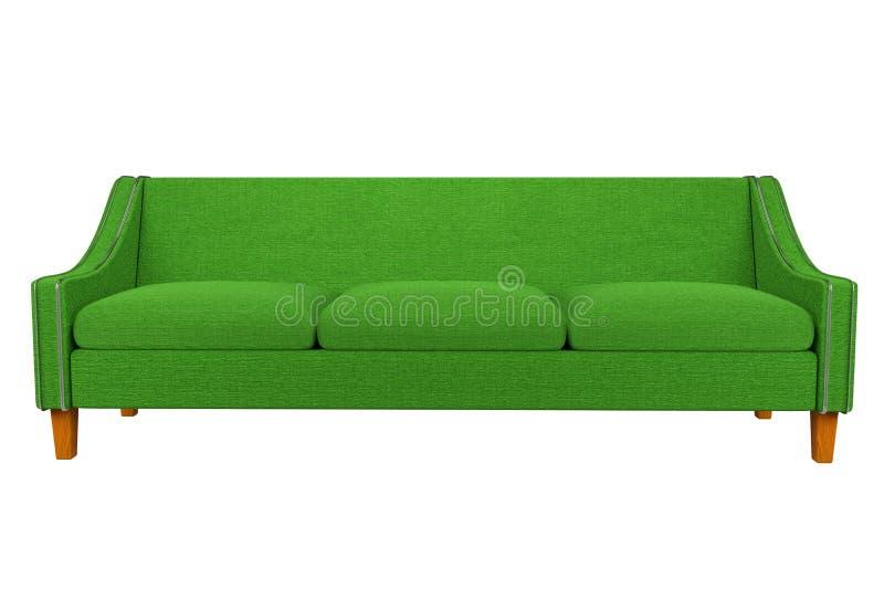 Tela verde do sofá e da cadeira de couro no fundo branco para o uso nos gráficos, foto que edita, sofás, várias cores, vermel ilustração royalty free