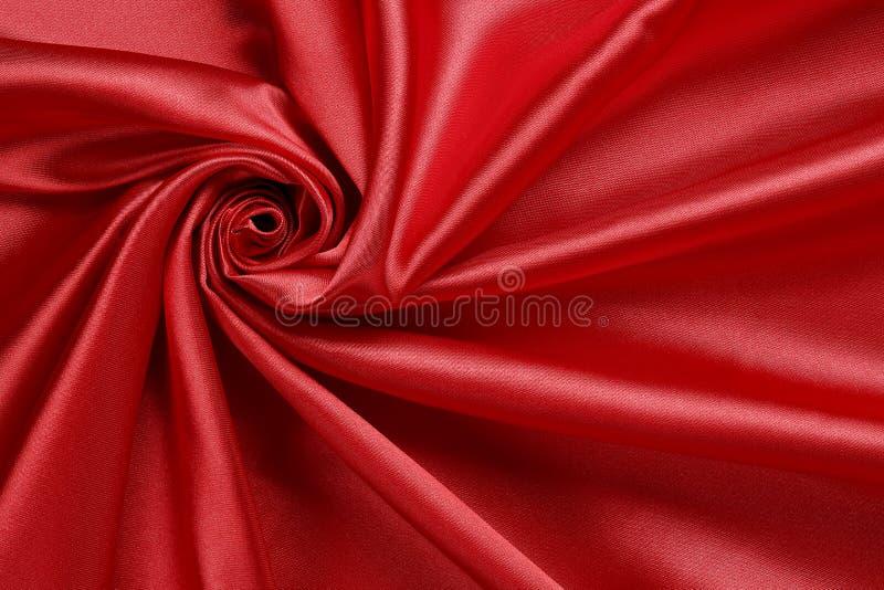 Tela vermelha do cetim imagem de stock royalty free
