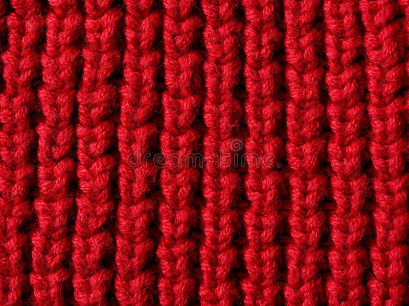 Tela vermelha do knit fotografia de stock royalty free