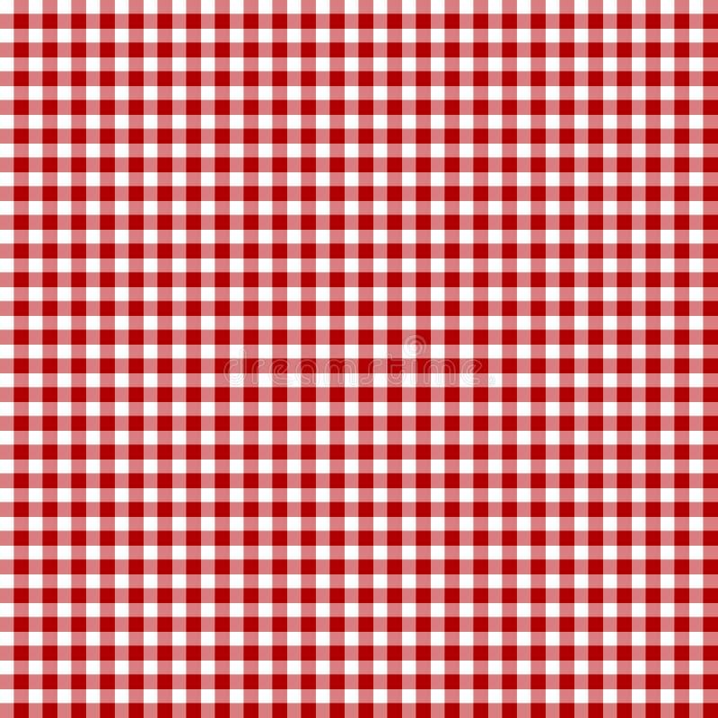 Tela vermelha do piquenique ilustração do vetor