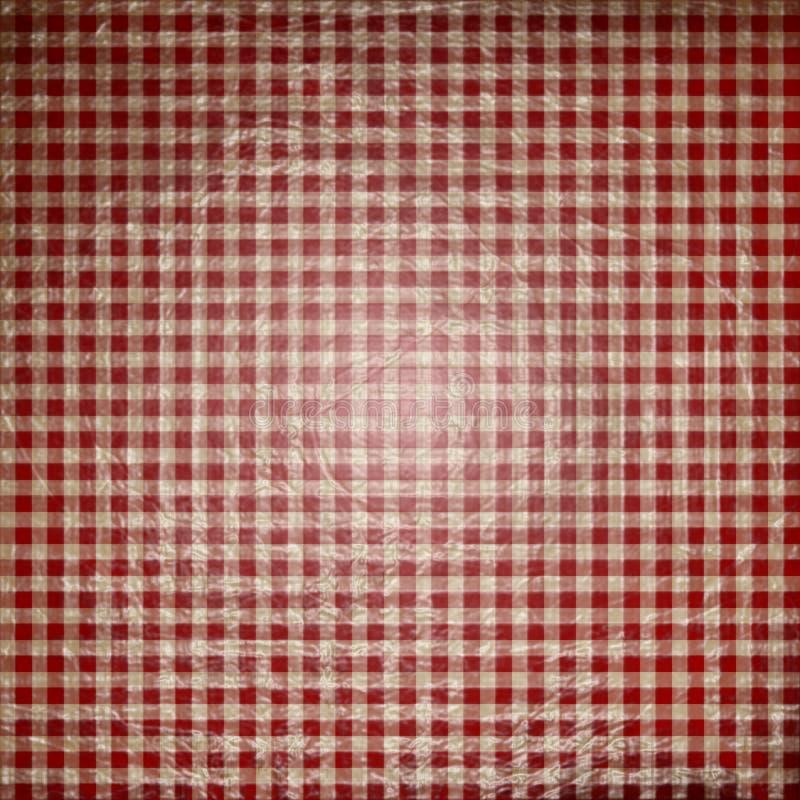 Tela vermelha do piquenique ilustração stock