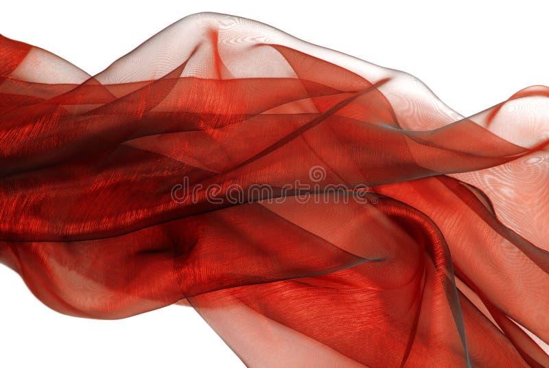 Tela vermelha ondulada de organza foto de stock royalty free