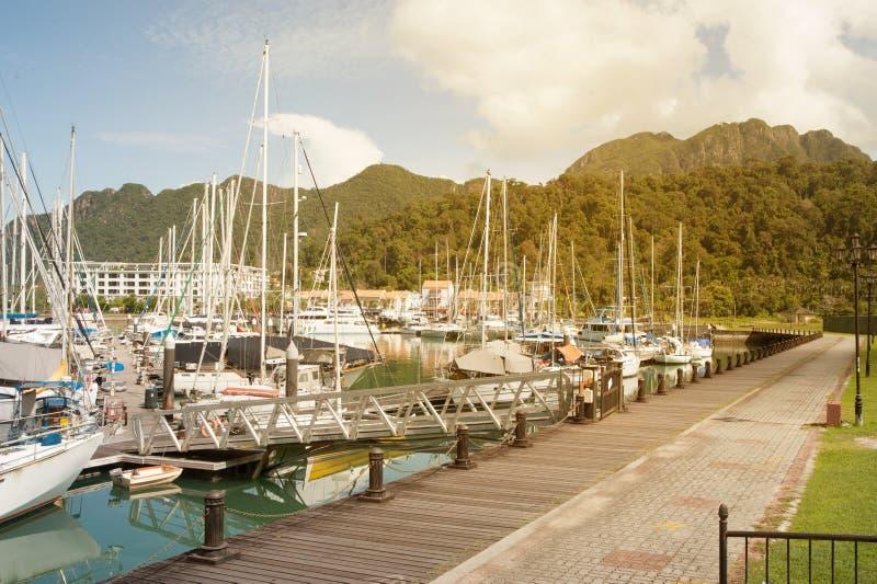 Telaga Habour Marina i park obrazy stock