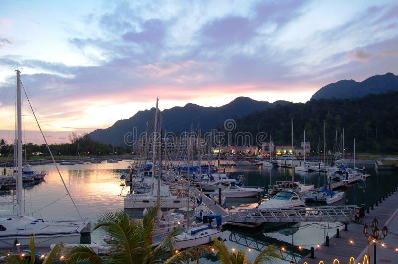 Telaga Hafen, Langkawi stockbild