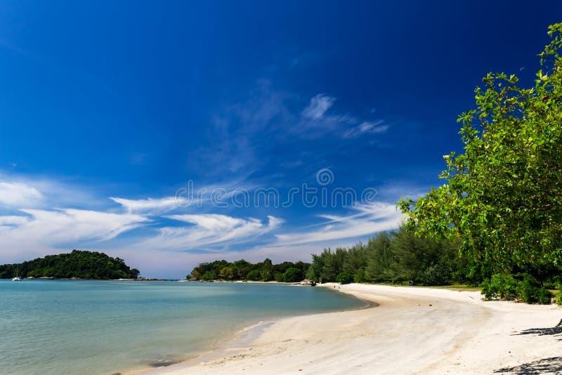 Telaga Harbor beach on Langkawi island, also known as Pulau Langkawi, Andaman Sea, State of Kedah, Malaysia. Telaga Harbor beach on Langkawi island, also known royalty free stock photos
