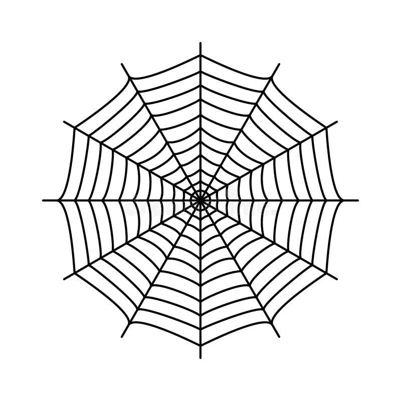 Telaraña Web del ` s de la araña libre illustration