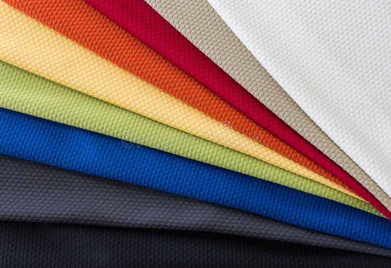 Telas de las muestras multi de los colores imágenes de archivo libres de regalías
