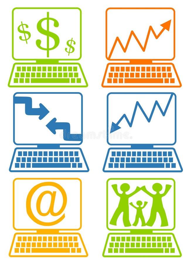 Telas do portátil do computador ilustração royalty free