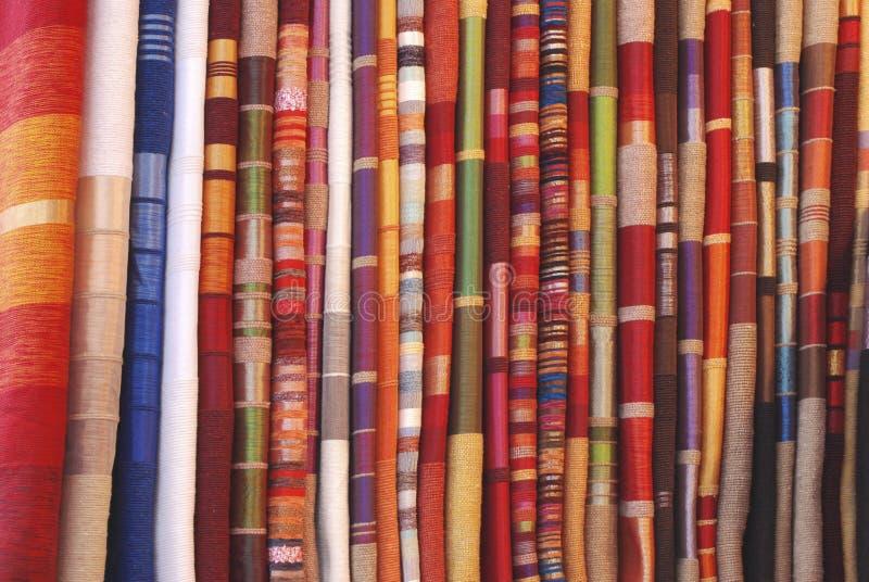 Telas marroqu es foto de archivo imagen de material rojo - Telas marroquies ...