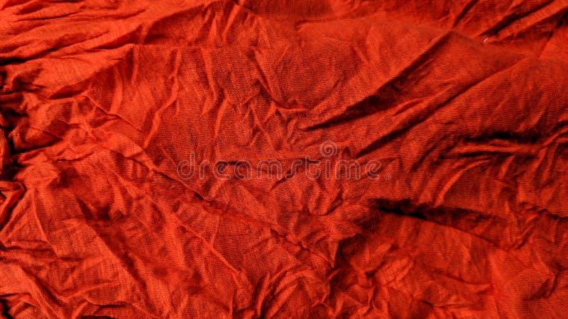 Telas vermelhas amarrotadas ilustração stock