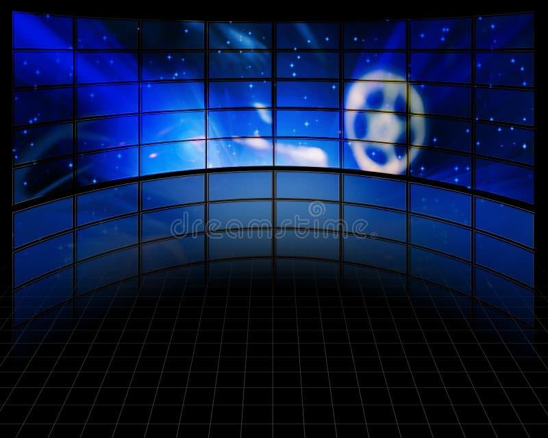 Telas video ilustração do vetor