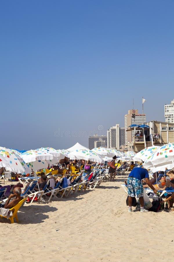 Download Verão Na Praia Em Telavive Israel Fotografia Editorial - Imagem de marco, hotel: 29826697