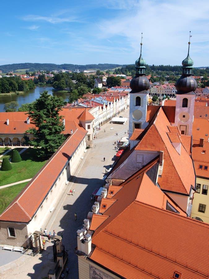 Telc, Чешская Республика стоковое изображение rf