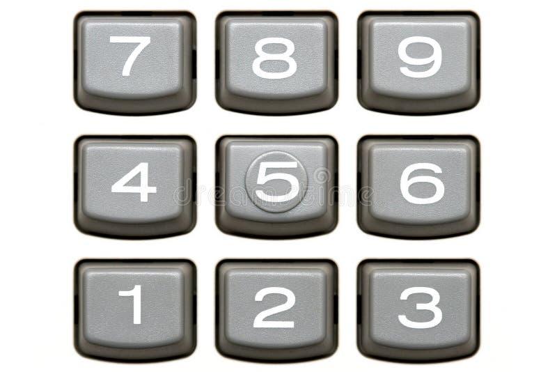 Telclado numérico de la calculadora imágenes de archivo libres de regalías