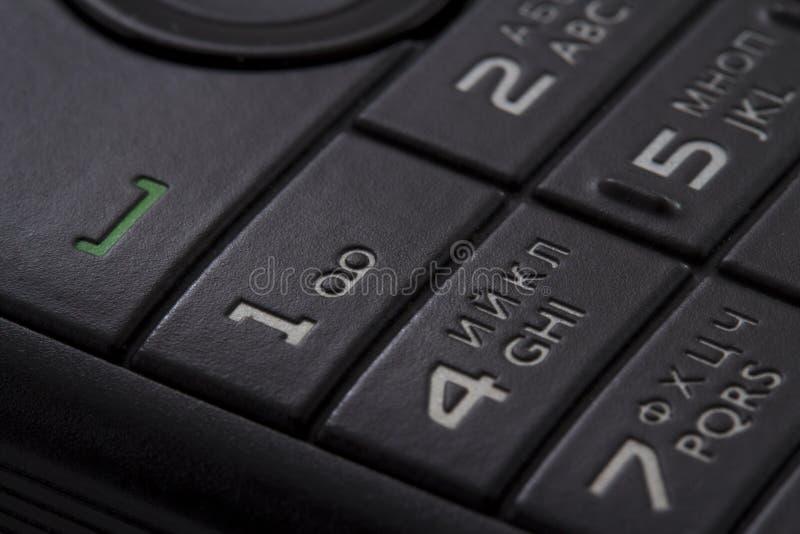Telclado numérico de un teléfono móvil fotos de archivo libres de regalías