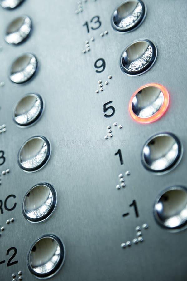Telclado numérico del elevador foto de archivo libre de regalías
