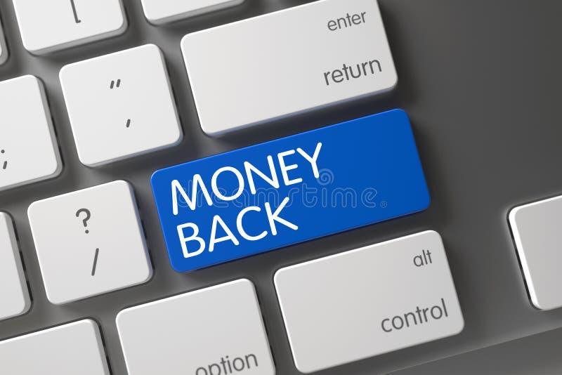 Telclado numérico del reembolso del dinero 3d stock de ilustración