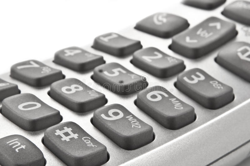 Telclado numérico del teléfono fotografía de archivo libre de regalías