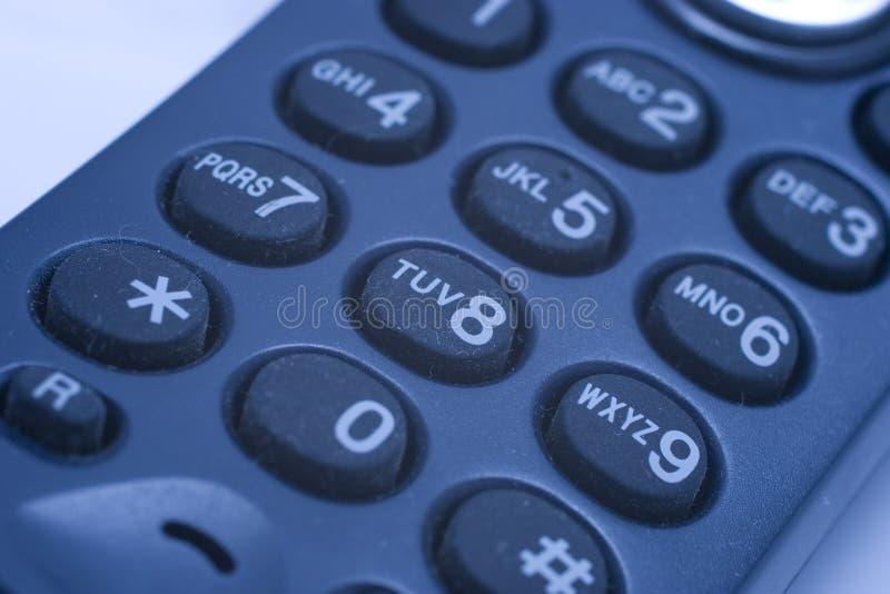 Telclado numérico del teléfono fotos de archivo