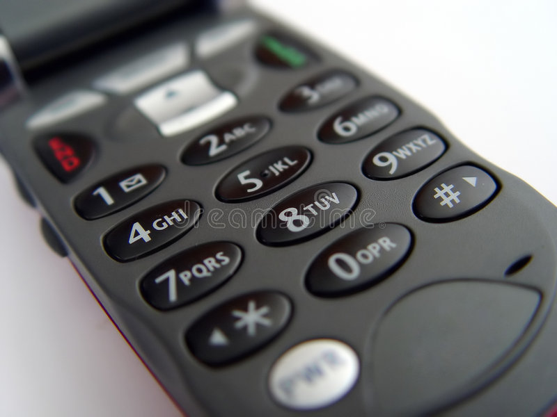 Telclado numérico del teléfono móvil imágenes de archivo libres de regalías