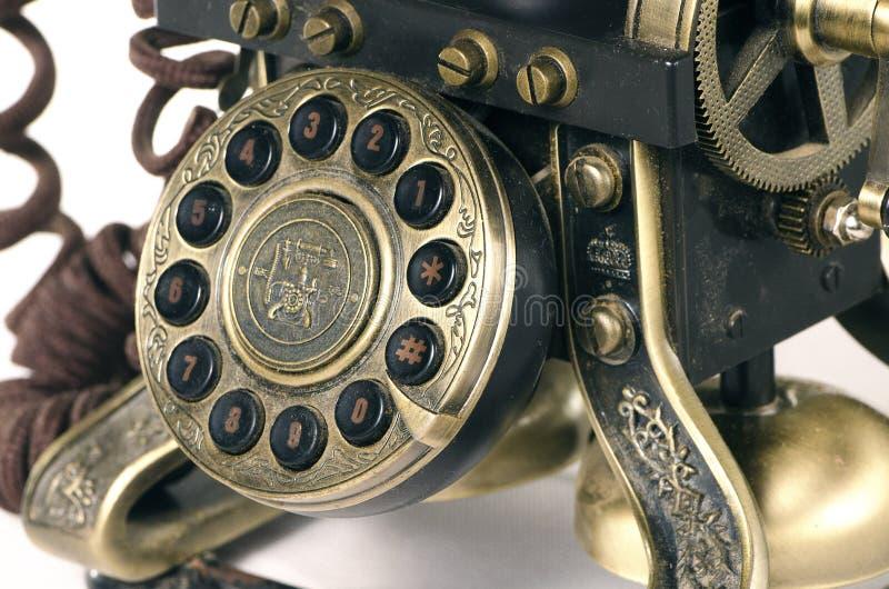 Telclado numérico viejo del teléfono imagenes de archivo