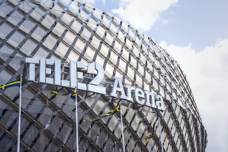 Tele2 arena Éstocolmo fotos de stock