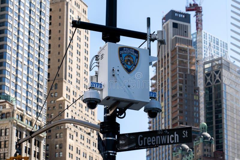 Telecamere di sorveglianza a Manhattan, NYC immagini stock
