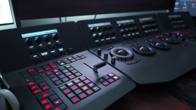 Telecine kontrola maszyna dla przystosowywa filmu kolor zdjęcie royalty free