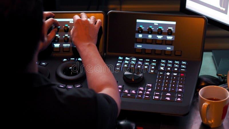 Telecine kontrolera maszyna dla redaguje kolor na cyfrowym wideo fotografia royalty free