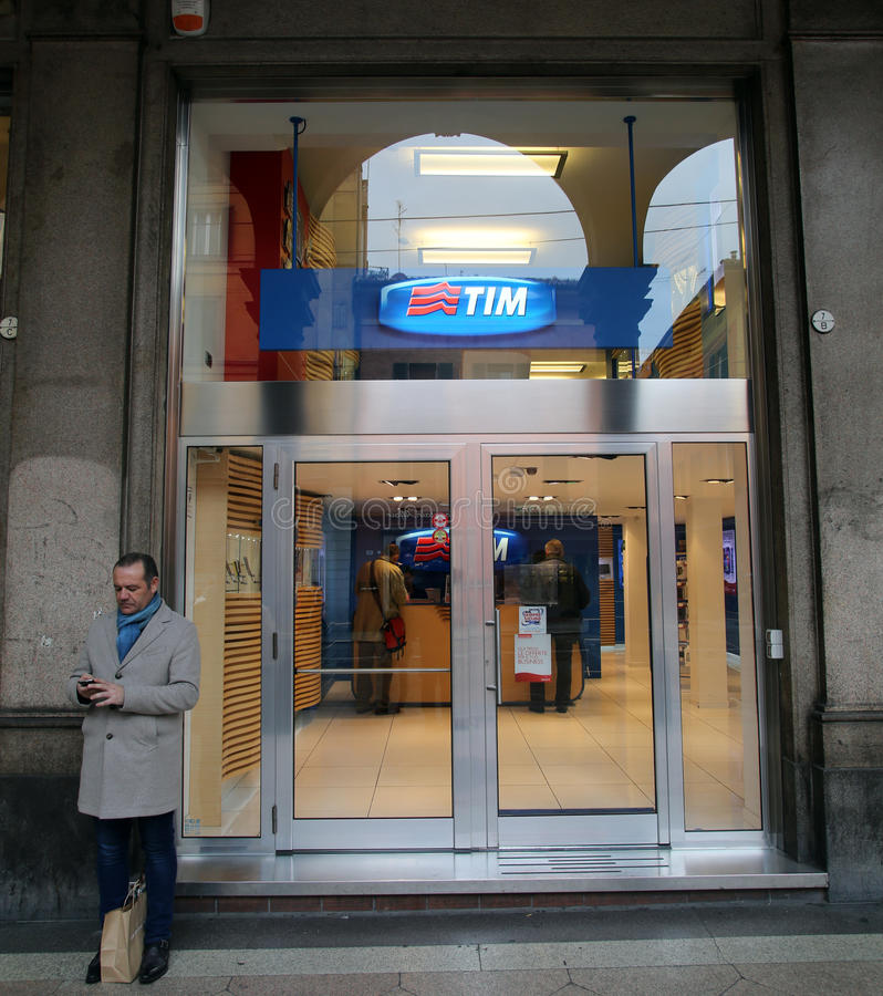 TELECOM ITALIA lizenzfreie stockfotos
