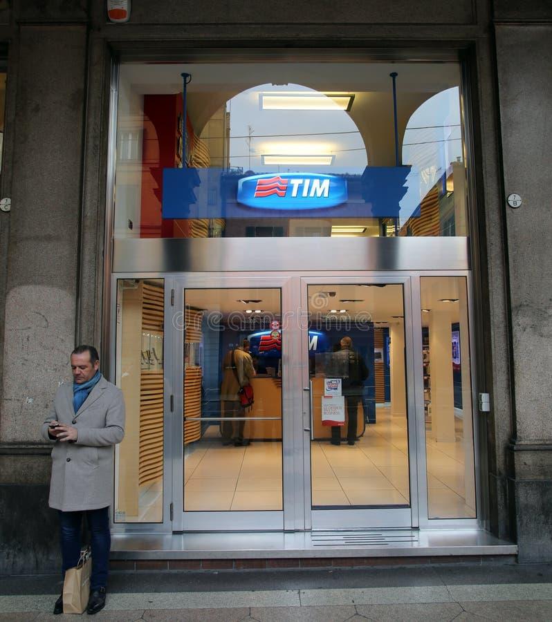 TELECOM ITALIA royalty free stock photos