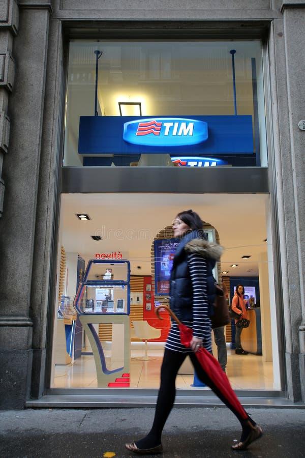 TELECOM ITALIA royalty free stock photo