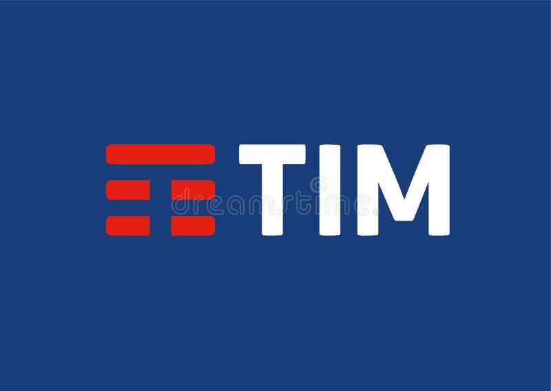 Telecom italia Mobile TIM Logo stock illustration