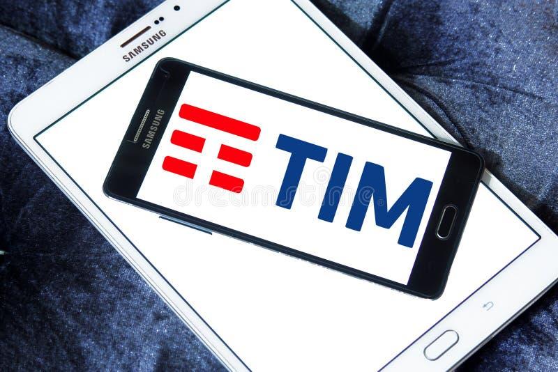 Telecom Italia, TIM logo. Logo of Telecom Italia, TIM on samsung mobile on samsung tablet. Telecom Italia is an Italian telecommunications company headquartered royalty free stock photography