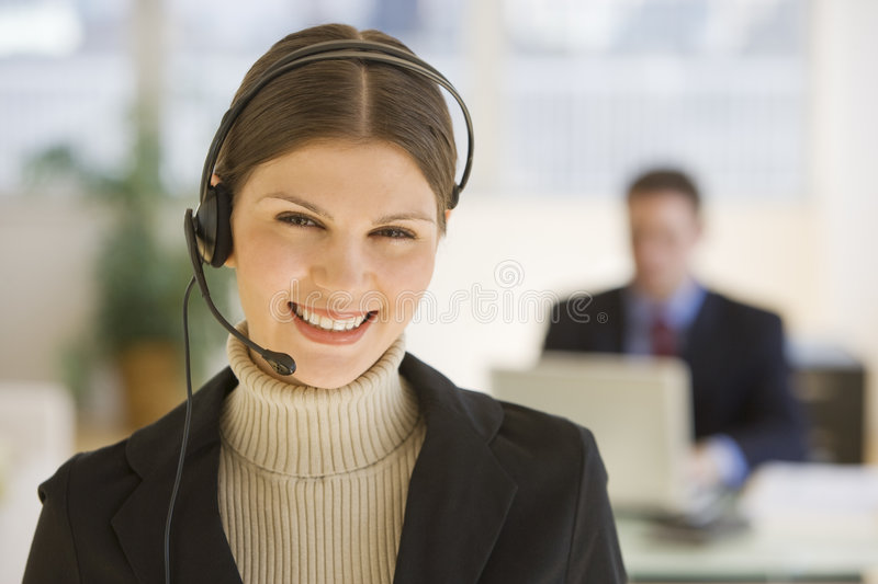 Download Telecom operator stock image. Image of caucasian, young - 3251433