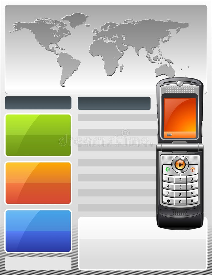 Download Telecom Provider Flyer stock vector. Image of magazine - 6991755