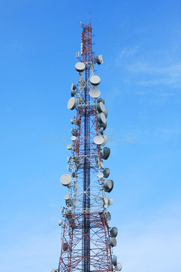 Download Telecom tower stock photo. Image of electromagnetic, receiver - 15499856