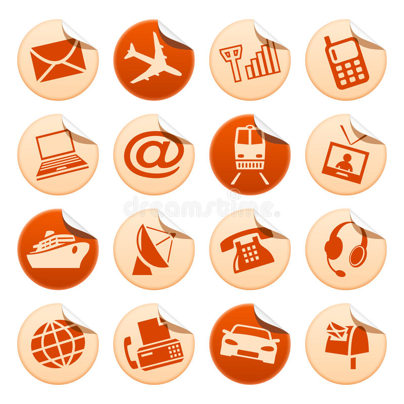 Download Telecom & Transport Stickers Stock Vector - Image: 10791140