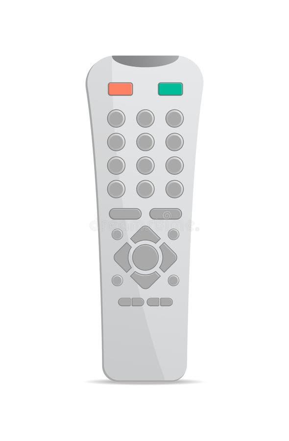 Telecomando di plastica per l'icona di elettronica illustrazione vettoriale