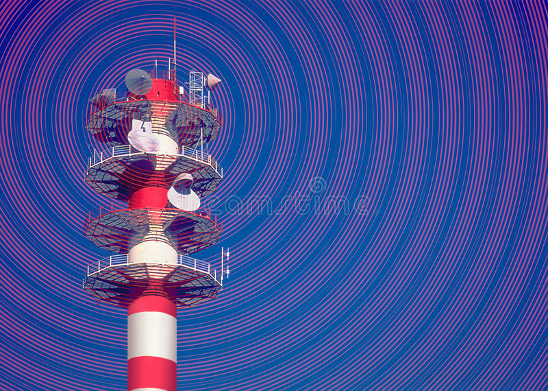 Telecommunicatie stock foto