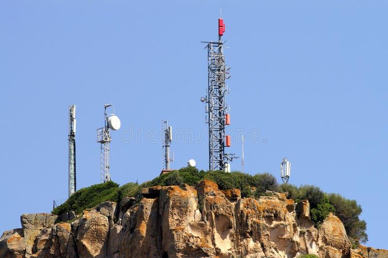 Telecommunicatie antenne royalty-vrije stock foto