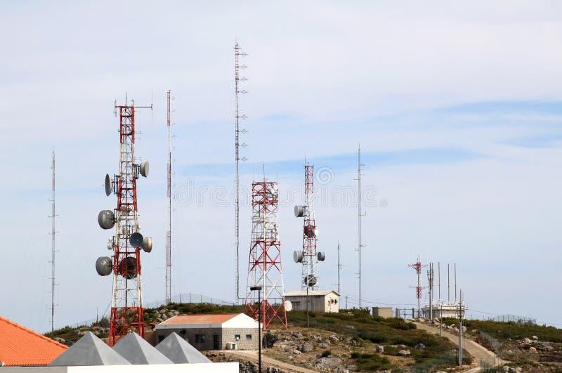 Telecommunicatie en radar dichtbij Foia, Portugal royalty-vrije stock foto