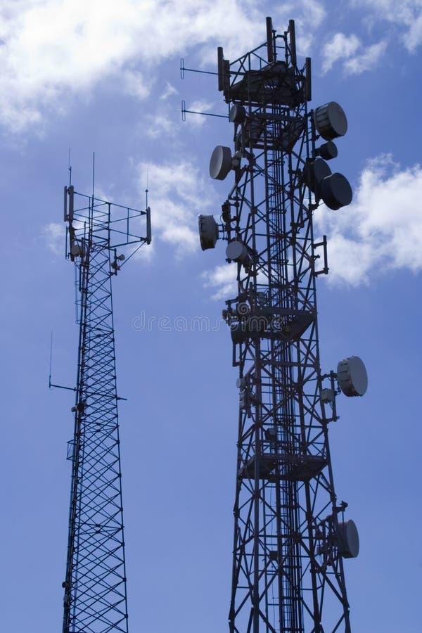 Telecommunicatie masts2 royalty-vrije stock fotografie