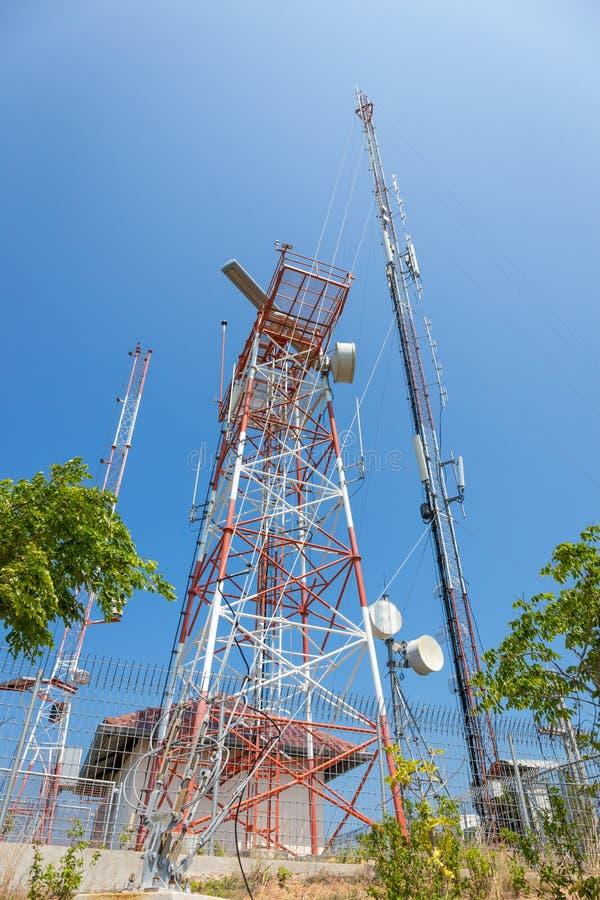 Telecommunication antenna at Koh Larn, Pattaya. Chonburi, Thailand stock image